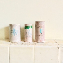 tumblers with insect dots