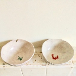 bowls with seaweed glazing