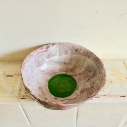 bowl with green middle