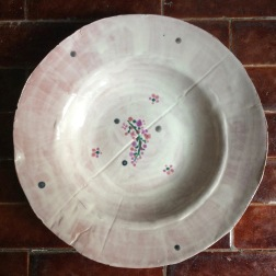 bowl with rim and lilac