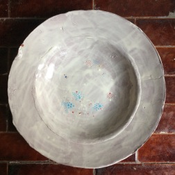 bowl with rim and dots